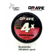 DRAVE X4 100M BRAIDED LINE (GREY COLOR)